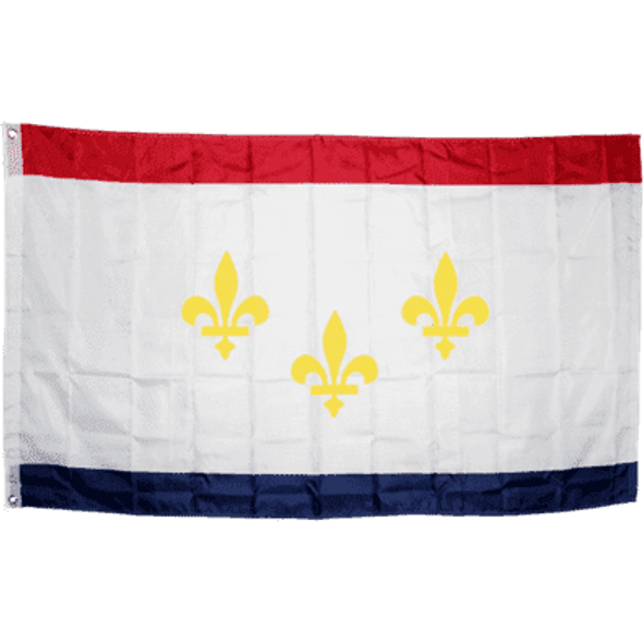 City of New Orleans Flag 3x5 ft Economical