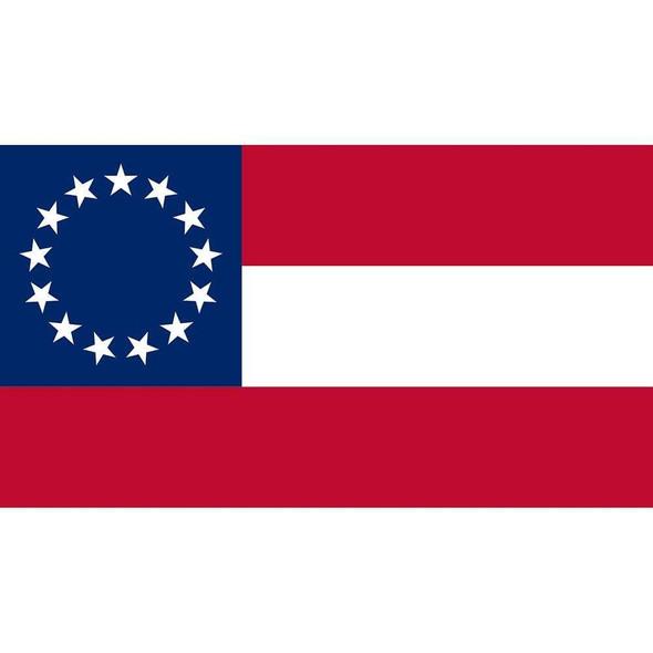 1st National Confederate Flag 13 Stars 3x5 Economical