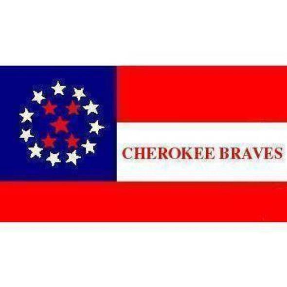 Cherokee Braves Flag 3x5 ft. Economical