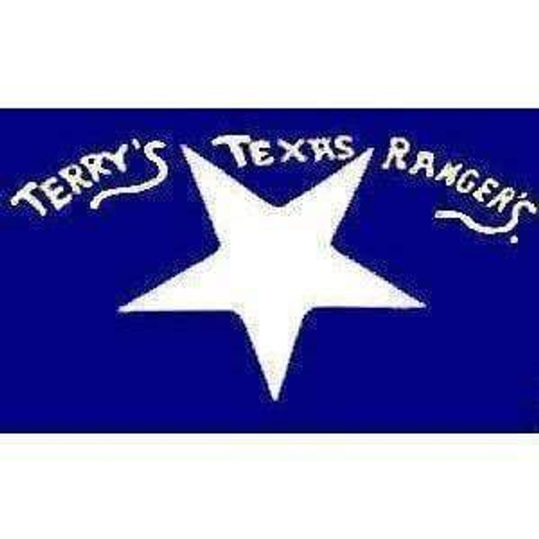 Confederate Terry's Texas Rangers Flag 3x5 ft. Economical