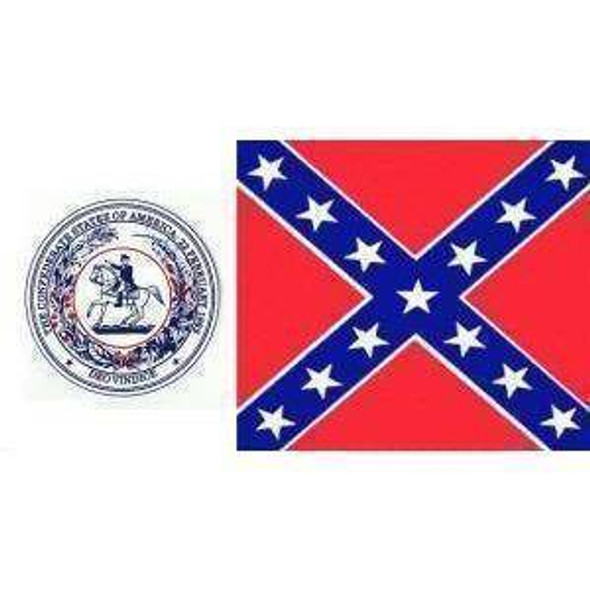 CSA Seal Battle Flag - Confederate States of America 3x5 ft. Economical