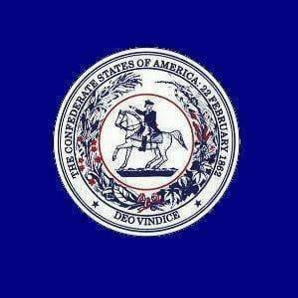 CSA Seal Flag - Square- Confederate States of America Seal Flag 3x3 ft.