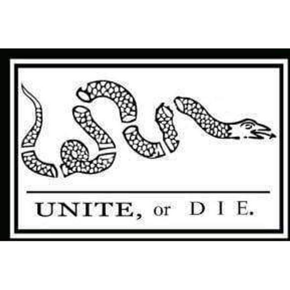 Unite or Die Flag - 3 X 5 ft. - Standard - Benjamin Franklin
