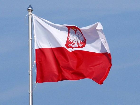 Poland (Old) With Eagle Flag Standard