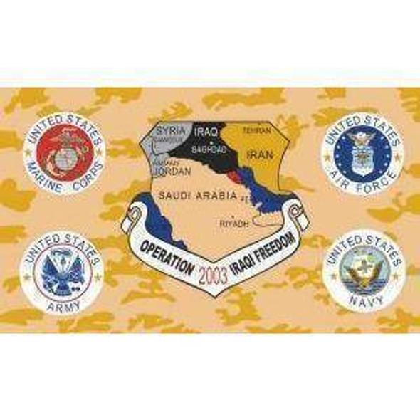 Operation Iraqi Freedom Flag 3 X 5 ft. Standard