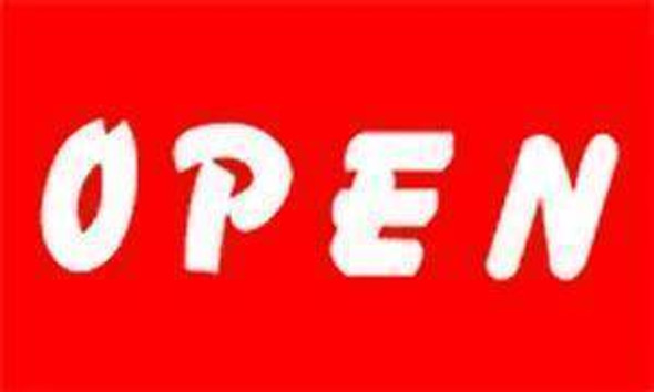 Open (Red) (sign flag) 3 X 5 ft. Standard