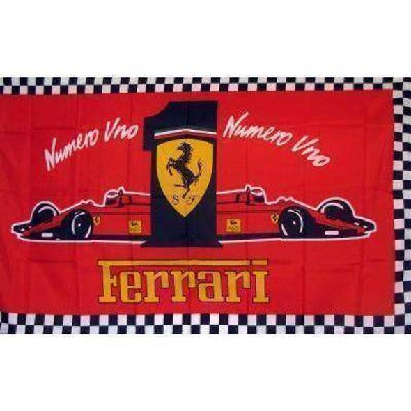 Ferrari Numero Uno Flag 3 X 5 ft. Standard
