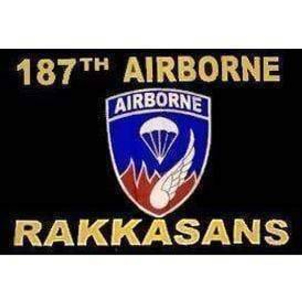 187th Airborne Flag Rakkansans 3x5 Rough Tex 100D