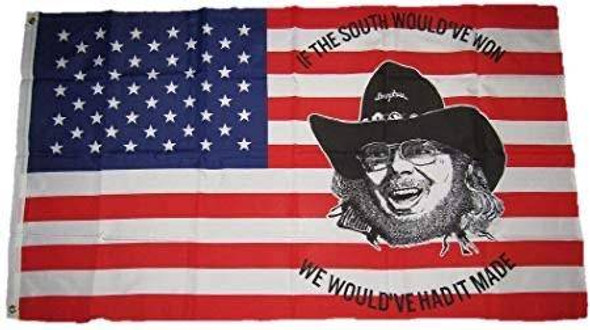 Hank Williams Jr America Flag 3 X 5 ft. Standard