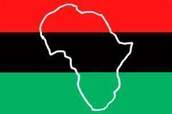 Afro-American Heritage (Africa map) Flag Standard