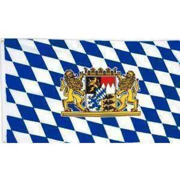 Bavaria With Lion Flag (German State Flag) 3x5 ft. Standard