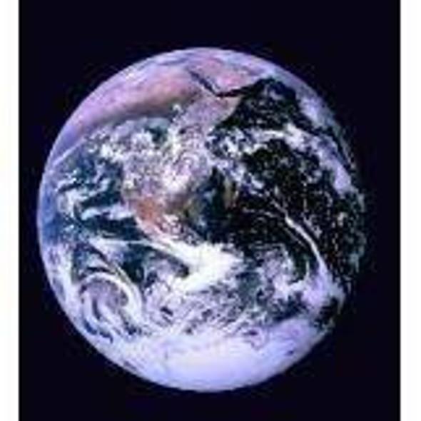 Earth Flag (Black) NASA photo Flag 3x5 ft. Economical