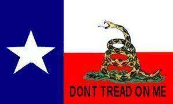Texas Gadsden Flag -Gadsden Don't Tread on Me