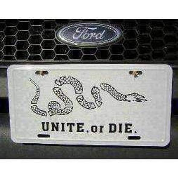 Unite or Die License Plate