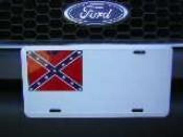 2nd Confederate Rebel License Plate