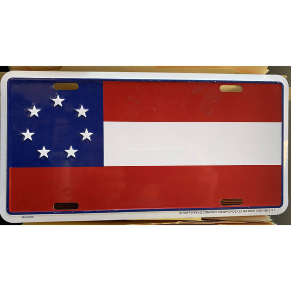 7 Stars & Bars First National License Plate