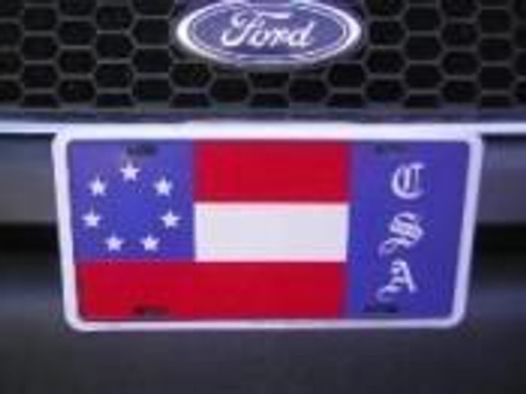7 Stars & Bars CSA License Plate