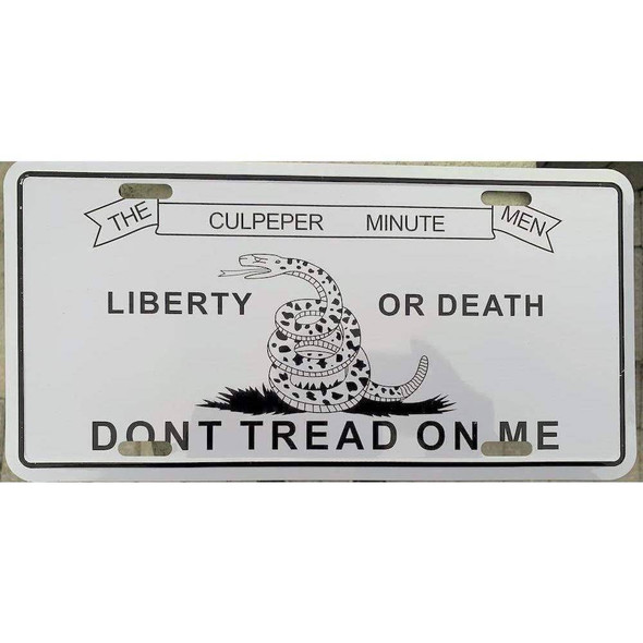 Culpeper Don't Tread on Me License Plate