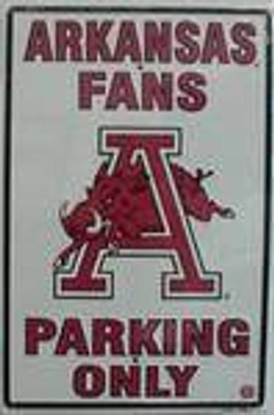 Arkansas Razorbacks Fans Parking Only