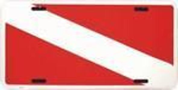 Scuba Divers Diving Flag License Plate