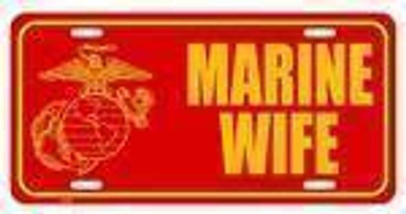 Marine Wife License Plate