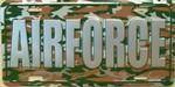 US Air Force Camo Camouflage License Plate