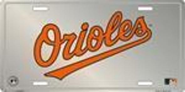 Baltimore Orioles MLB Chrome License Plate