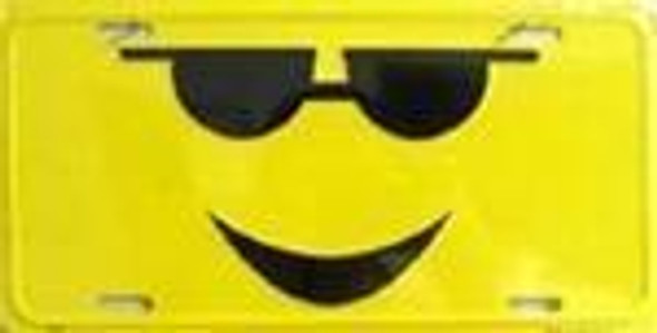 Sunglasses Cool Smiley License Plate