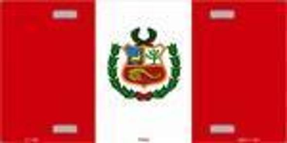Peru Flag License Plate