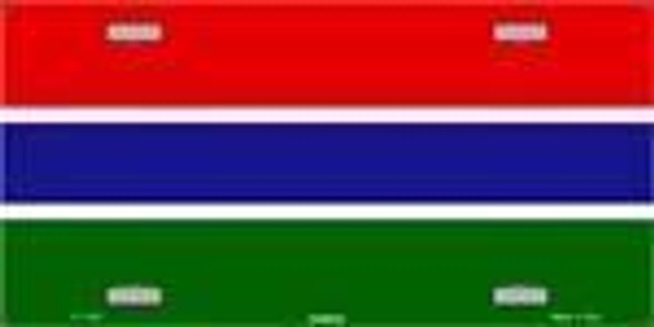 Gambia Flag License Plate Blank