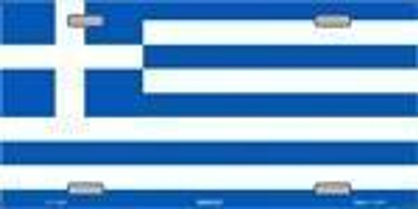 Greece Flag License Plate Greek