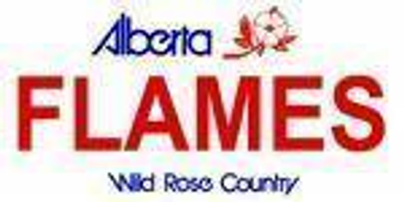 Alberta Canada Province Background License Plate - Flame Made in USA
