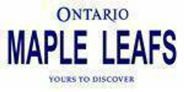 Ontario Canada Province Background License Plate - Maple Leaf