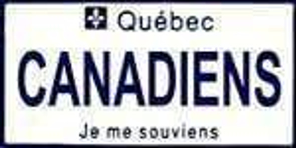 Quebec Canada Province Background License Plate - Canadian