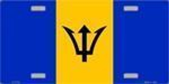 Barbados Flag License Plate