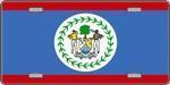Belize Flag License Plate