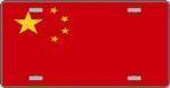 China Flag License Plate