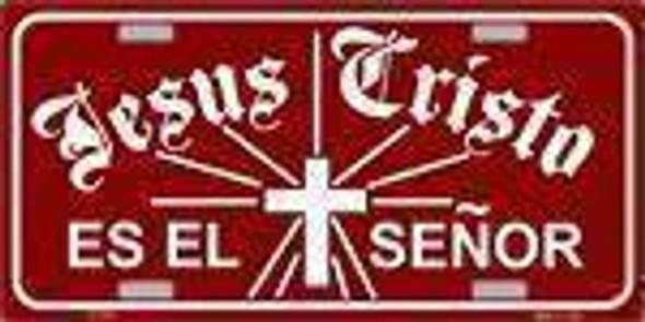 Jesus Cristo es el Senor  License Plate