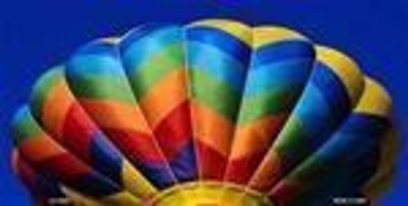 Rainbow Balloon License Plate