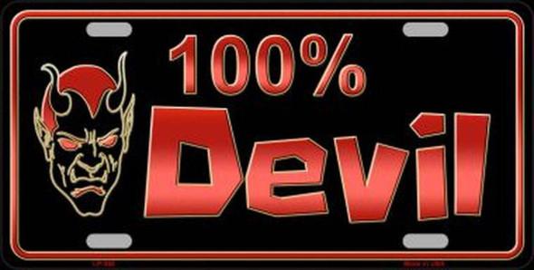 100 Devil License Plate - Made in USA