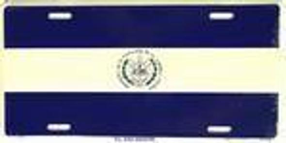 El Salvador Flag License Plate-1
