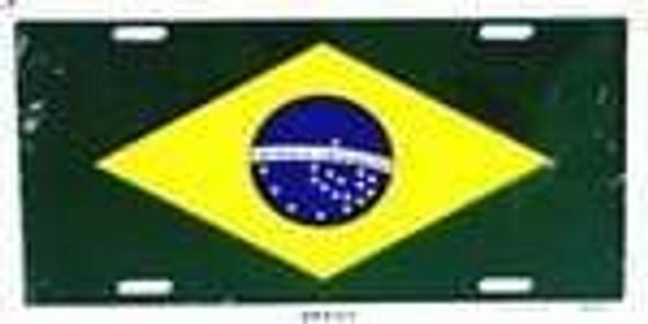 Brazil flag license Plate