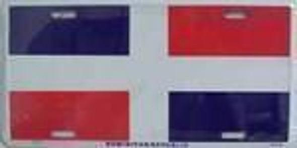 Dominican Republic Flag License Plate