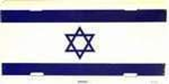 Israel Flag License Plate