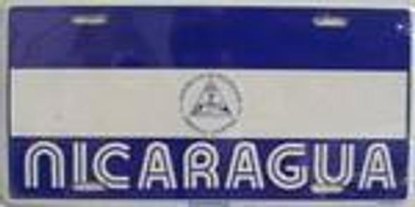 Nicaragua Flag License Plate