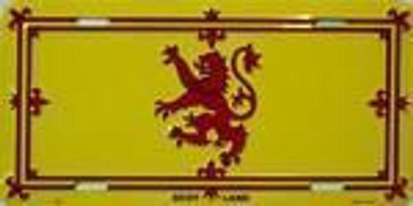 Scotland Lion Flag License Plate