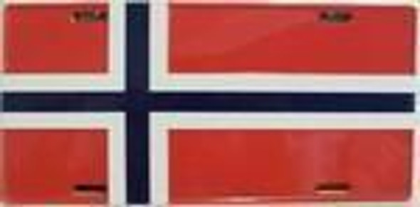 Norway Flag License Plate