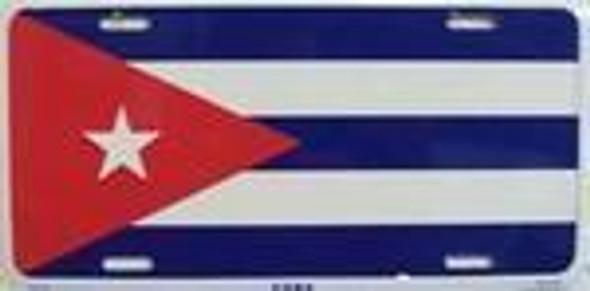 Cuba Flag License Plate