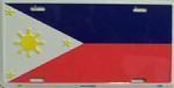 Philippines Flag License Plate
