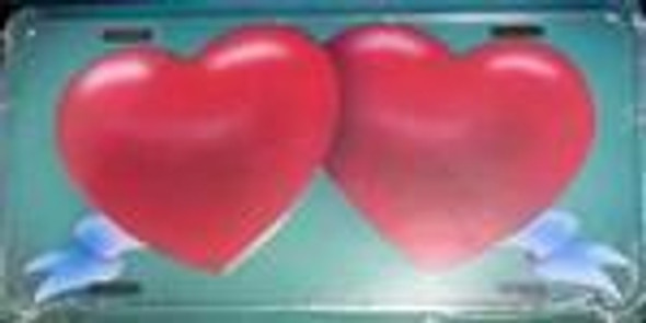 2 Hearts license plate